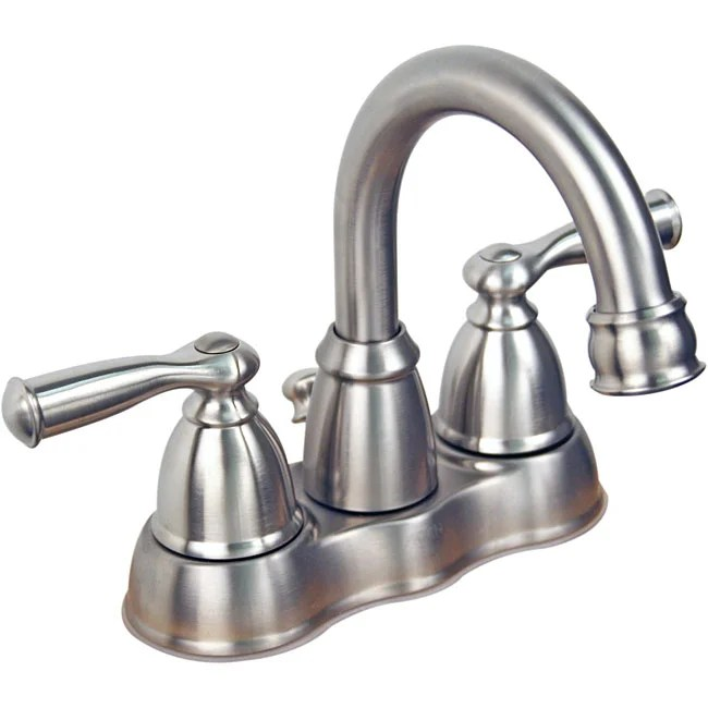Moen Banbury Collection 2handle Brushed Nickel Lavatory Faucet  12504729  Overstockcom