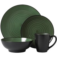 Pfaltzgraff Everyday 16-piece 'Orbit Green' Dinnerware Set ...