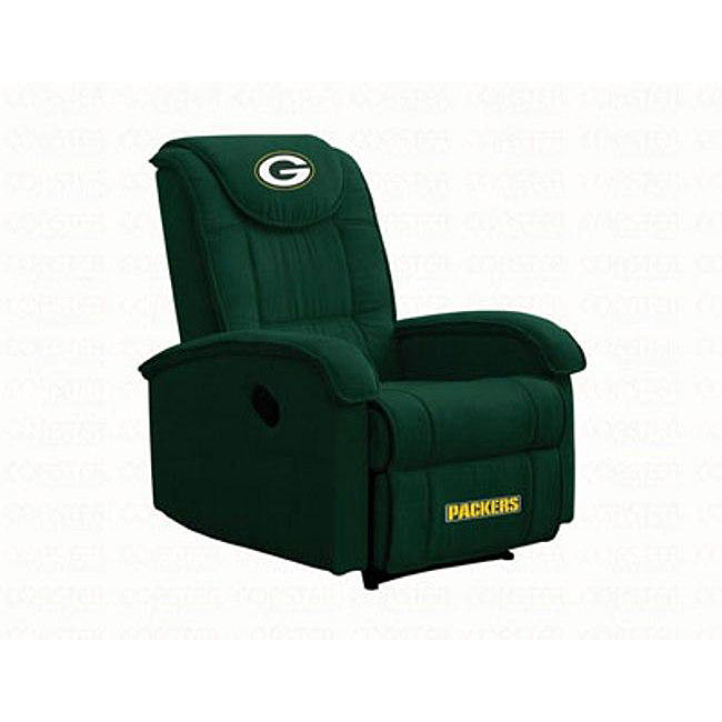 green bay packers chair west elm stackable shop microfiber recliner free shipping today overstock com 4607377