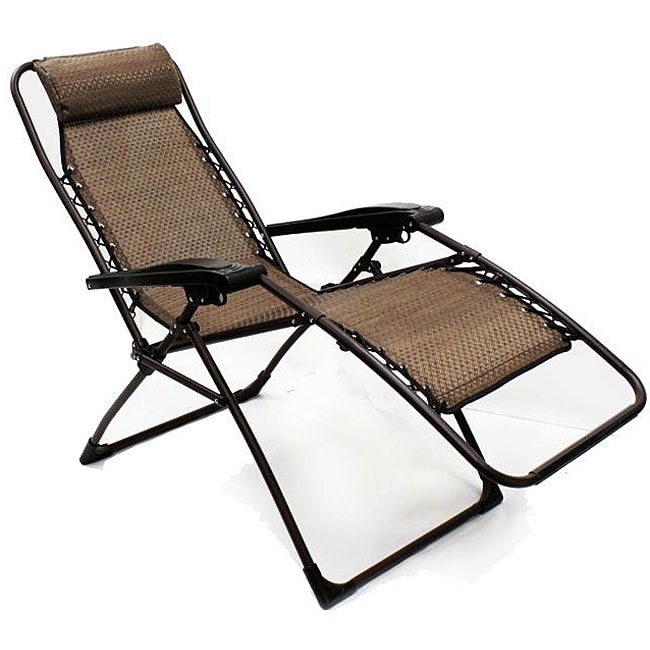 overstock zero gravity chair wicker armchair uk shop deluxe outdoor multi-position folding recliner - free shipping today ...