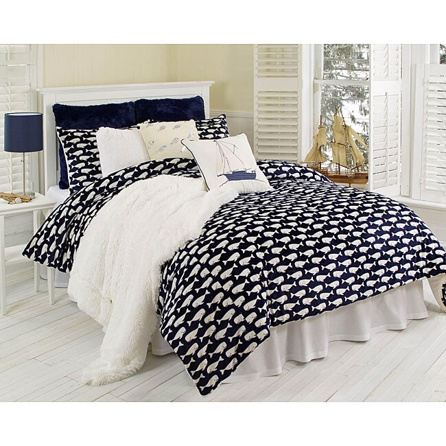 Wally Whale Microluxe 2piece Twinsize Comforter Set