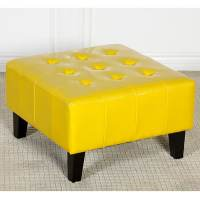 Ethan Children's Yellow Patent Leather Ottoman - Free ...