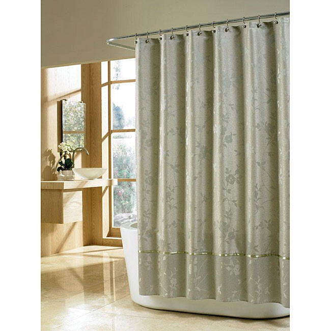 Manor Hill Silhouette Floral Silver Sage Shower Curtain Free Shipping On Orders Over 45