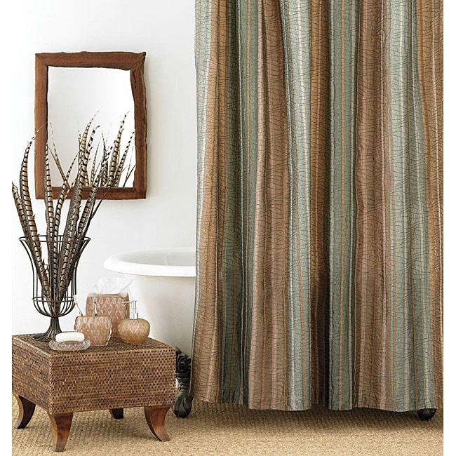 Manor Hill Sierra Extra Long Shower Curtain Free Shipping On