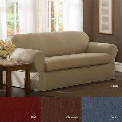 Sure Fit Cotton Duck Sofa Slipcover 4 Seat Dimensions Shop Stretch Twill - Free Shipping Today ...