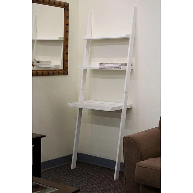 Leaning Ladder White Laptop Desk and Book Shelf  Free