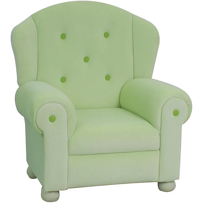 kids arm chairs johannesburg shop plush pastel green chair free shipping today overstock com 5233611