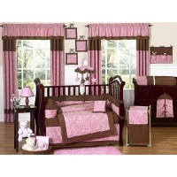 Pink Paisley 9-piece Crib Bedding Set - 13109471 ...