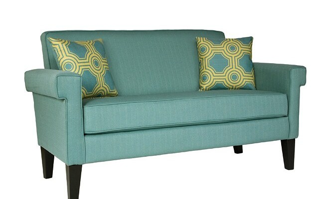 Angelo Home Ennis Shoreline Aqua Blue Sofa 13130245