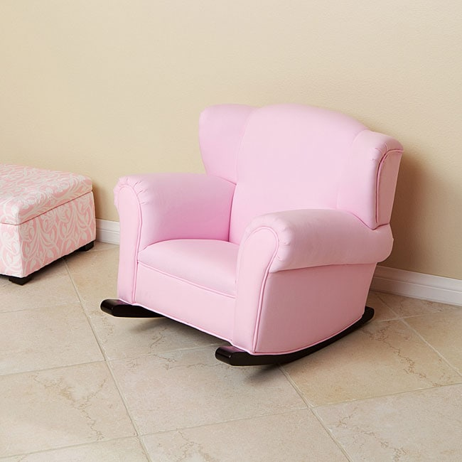 Childs Pink Fabric Rocking Chair  Free Shipping Today