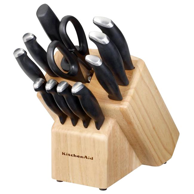 kitchen aid knives tall bags kitchenaid 12 piece stamped delrin cutlery set red with endcap