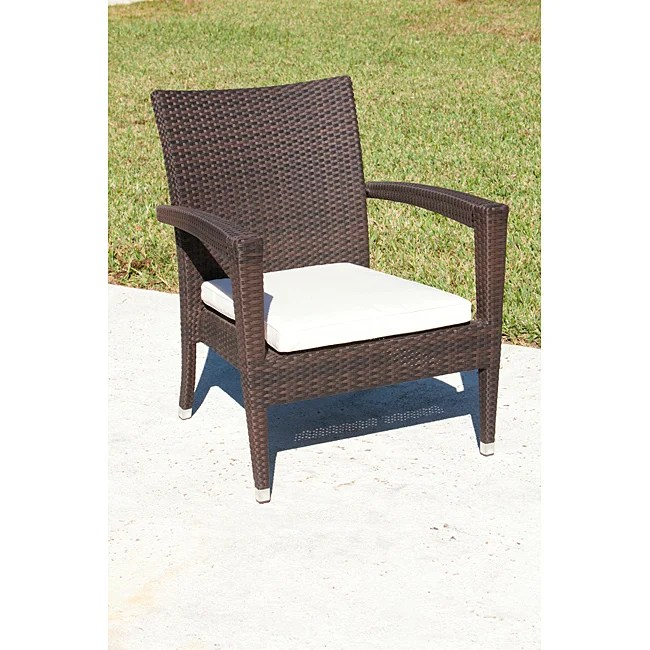 resin wicker lounge chairs best swivel glider recliner shop bayside outdoor espresso chair free