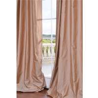 Exclusive Fabrics Dusty Pink Faux Silk 120-inch Curtain ...
