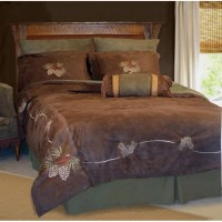 Pine Cone Faux Suede 7-piece Bedding Set - Free Shipping ...