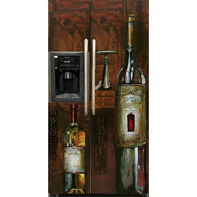 Appliance Art 'Old World Wine' Refrigerator Cover (Side