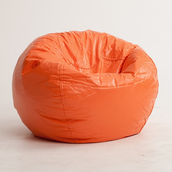 big joe milano bean bag chair cotton wedding covers hire shop beansack orange vinyl - free shipping on orders over $45 overstock.com ...