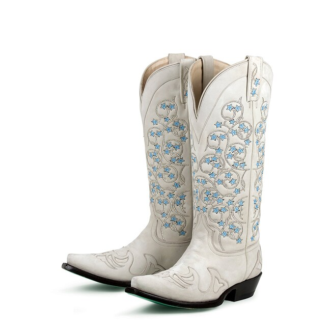 Lane Boots Womens Tangled Vines Wedding Cowboy Boots  Free Shipping Today  Overstockcom