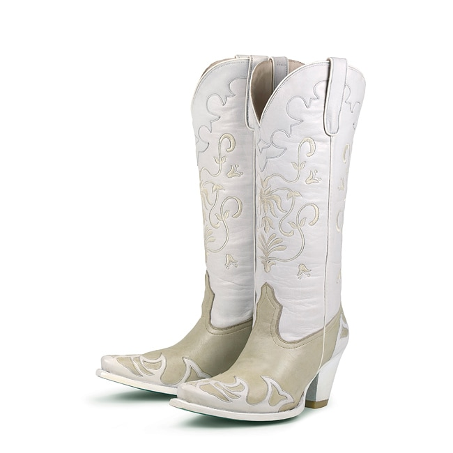 Lane Boots Womens Champagne Bridal Strut Cowboy Boots  Free Shipping Today  Overstockcom