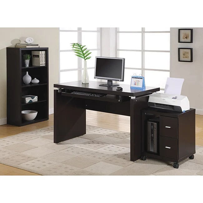Shop Cappuccino 48inch Long Computer Desk  Free Shipping Today  Overstock  6345888