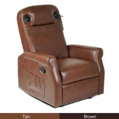 Darvis Leather Recliner Club Chair Brown Christopher Knight Home Swinging Outdoor Plans Soundome Wireless Gaming Theater With Speakers - 14017499 ...
