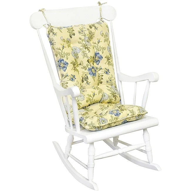 2 piece rocking chair cushions office chairs target shop cotton yellow floral standard cushion set