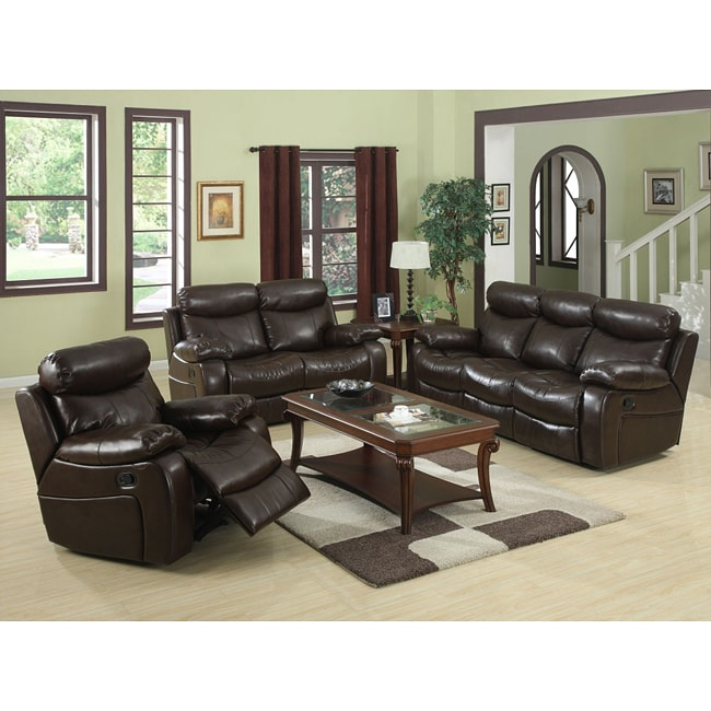 hilton furniture living room sets comfortable shop brown reclining sofa set free shipping today overstock com 6535464