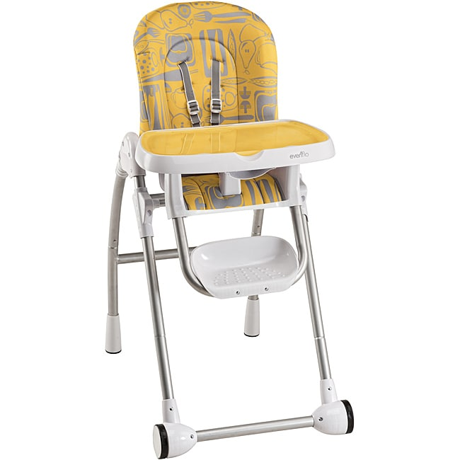evenflo modern kitchen high chair industrial stool shop 200 in print tangerine free shipping today overstock com 6620042
