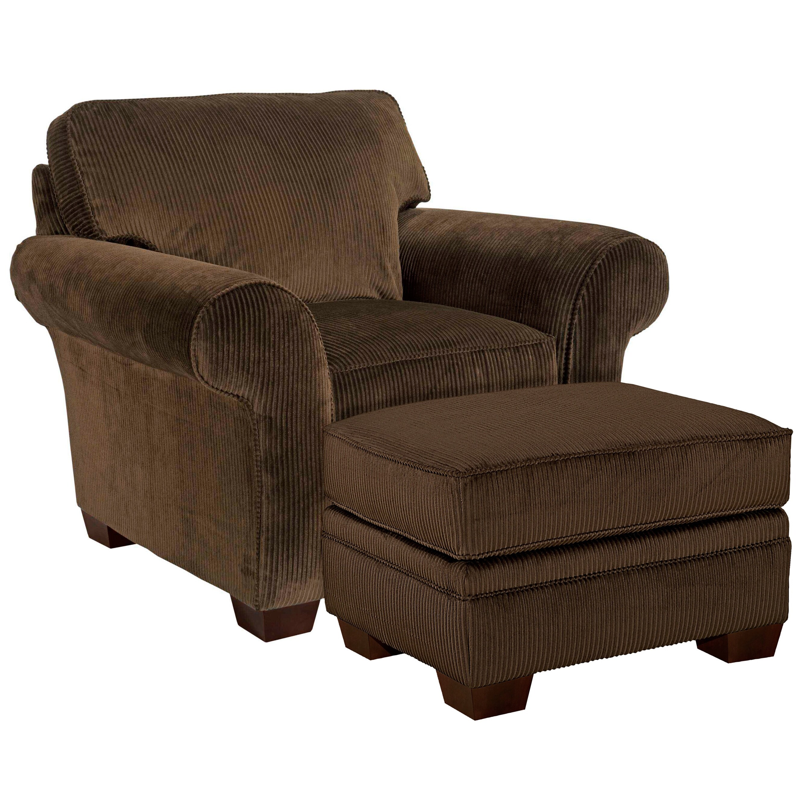 overstock com chairs unusual chair company broyhill zoey dark chocolate corduroy ottoman set