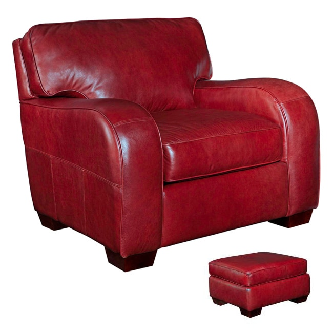 red leather chair and ottoman banquet hall covers shop broyhill melanie set free shipping thumbnail