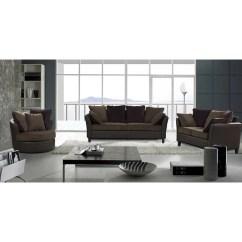 Swivel Chair Sofa Set Folding Cap Covers Shop Tucana 3 Piece Two Tone With Free Thumbnail