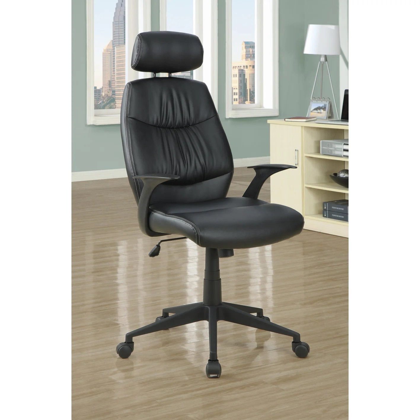 office chair overstock boyd dental chairs black 39retro style 39 leather look free