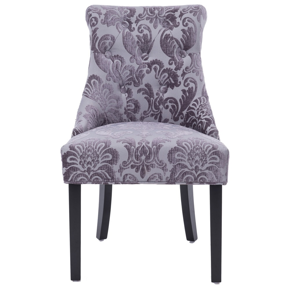 Damask Dining Chair Shop Madison Rollback Grey Fan Damask Dining Chair 1 Pack Free