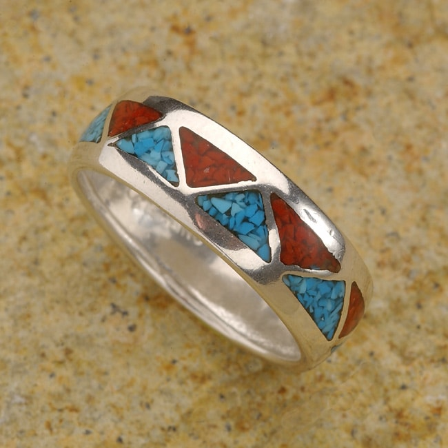 Navajo Wedding Band Native American  405622  Overstockcom Shopping  Top Rated More Jewelry