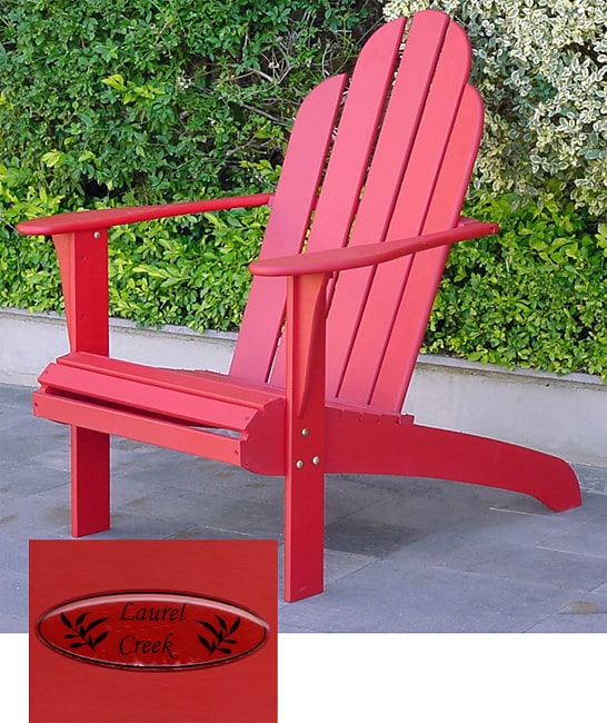 red adirondack chairs chair feet covers amazon shop laurel creek free shipping today overstock com 1461088