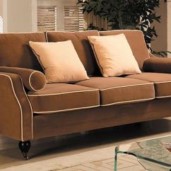 Fabric Queen Sleeper Chaise Sofa Decorating Around Leather Sofas Carolyn With Contrast Piping - Free Shipping Today ...