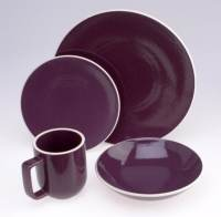 Sasaki Colorstone Plum 16 pc Dinnerware - Free Shipping ...