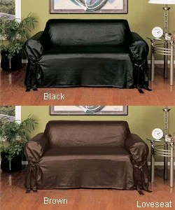 Faux Leather Slipcover Sofa Free Shipping Today Overstock