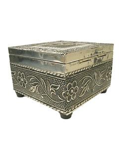 Elephant Jewelry Box : elephant, jewelry, Embossed, Elephant, Jewelry, (India), Overstock, 591584