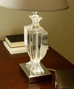Crystal Urn Table Lamp