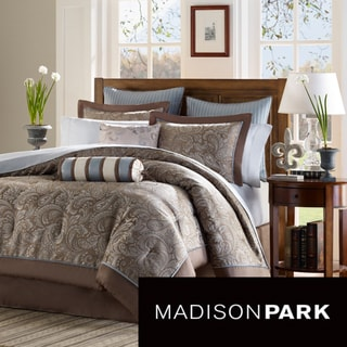 Madison Park Whitman Blue 12 Piece Bed In A Bag With Sheet