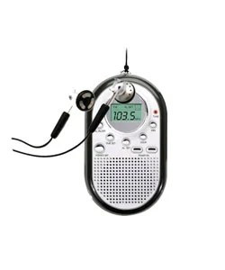 Shop Mini Portable AM/ FM Radio with Alarm Clock and