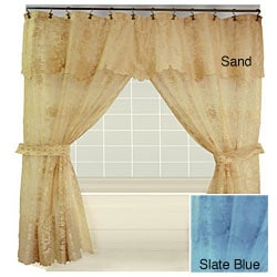 Tribute Lace Double Swag Shower Curtain Free Shipping On Orders
