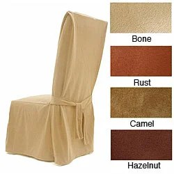 club chair slipcovers t cushion recycled plastic adirondack chairs suede dining covers (set of 2) - 12254001 overstock.com shopping big discounts on ...