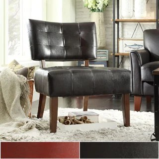 Leather Accent Chair Home Goods Shop The Best Deals For