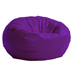 memory foam bean bag chair reviews office mats carpet staples beansack purple vinyl - 13915033 overstock.com shopping big discounts on ...