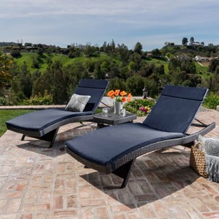 outdoor chair lounge folding umbrella clamp buy chaise lounges online at overstock com our best patio havenside home vilano 3 piece cushioned set