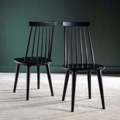 Windsor Kitchen Chairs Swivel Chair Gif Buy Farmhouse Dining Room Online At Safavieh Country Classic Burris Black Set Of 2 17 X