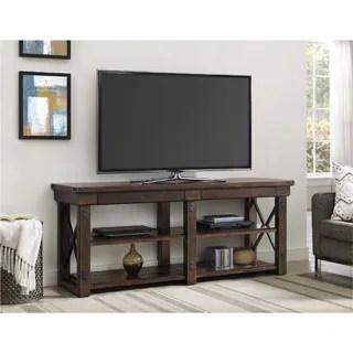 Ameriwood Home Wildwood Mahogany Veneer 65 Inch TV Stand