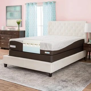 Comforpedic From Beautyrest 12 Inch California King Size Gel Memory Foam Mattress Set