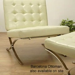 Rialto Black Bonded Leather Chair Hire Covers For Weddings Cheap Barcelona Style Creme - 417811 Overstock.com Shopping Great Deals On Living ...